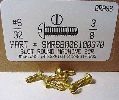 6-32x38 Round Head Slotted Machine Screws Solid Brass 36