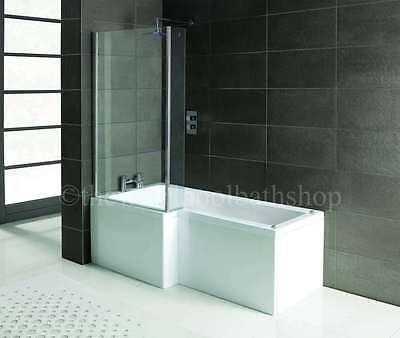 LH Oceania 12 Jet L Shape Whirlpool Jacuzzi Shower Bath Complete Screen & Panel