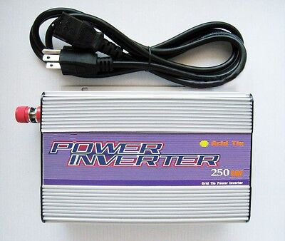 250W WATT MICRO GRID TIE SOLAR PANEL PURE SINE WAVE POWER INVERTER