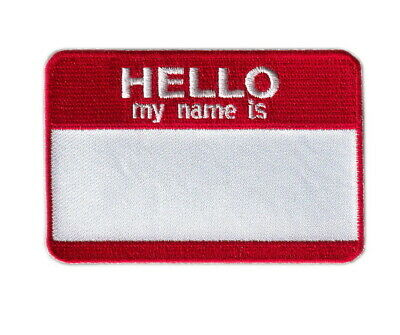 Iron on Hello My Name is BLANK Halloween Party Kids Name Tag Patch Halloween Party Ticket