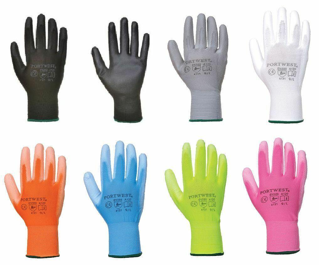 Portwest A120 Gloves PU Palm Work Cut Resistant ANSI 105