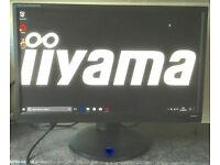 22 inch iiyama Prolite 82280HS LED Full HD HDMI VGA DVI computer Screen Monitor with speakers