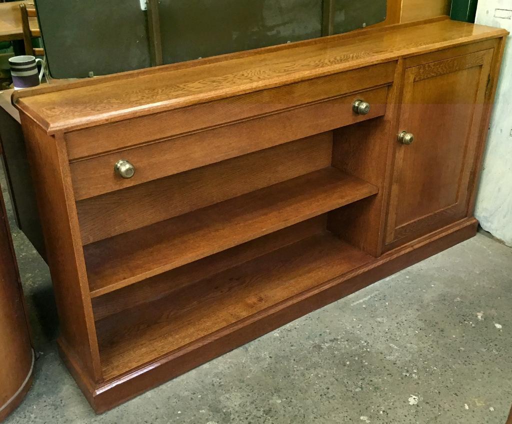 Oak sideboard/ bookcase