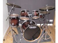 Mapex Meridian Maple 5 Piece Drum Kit + 4 Sabian XS Cymbals + Double base Pedal