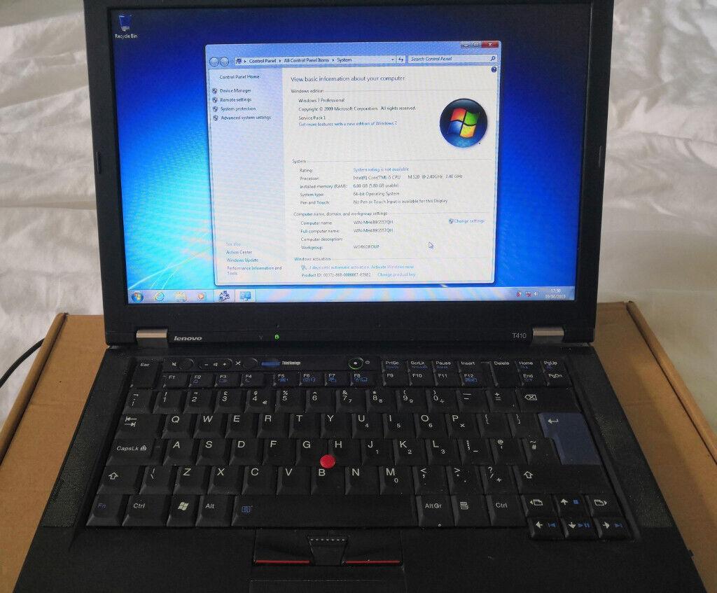 Lenovo T410 laptop - i5 2 4ghz, 6GB RAM, Windows 7 Pro | in Brighton, East  Sussex | Gumtree