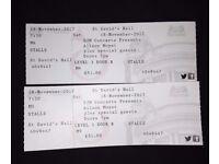 2 x Alison Moyet Tickets Sat 18.11.17 St Davids Hall, Cardiff