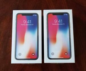 Brand New Sealed In Box iPhone X, 64GB ($1250) Silver/Grey; 256GB ($1450) Grey, Unlocked (Rogers/Telus/Bell/Freedom/WIND