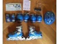 Dunlop Skate Set Blue: Size 1.5-4