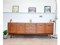 Vintage Mid Century G Plan Style Danish Design Stateroom Medium Teak Retro Sideboard Credenza 309