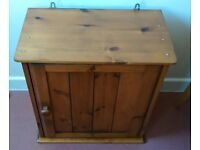 solid pine wall mounted or floor standing cupboard