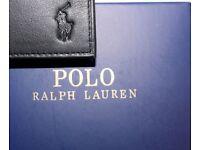RALPH LAUREN WALLET BLACK SMALL HORSE