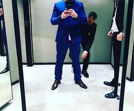 Men's blue tailored suit
