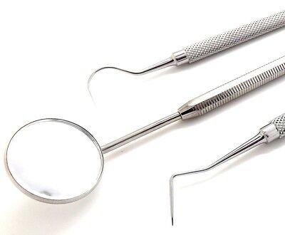 Dental Hygiene Cleaning Kit Probe Explorer Mouth Mirror Premium Quality New Set