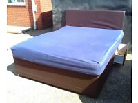 King Size Divan Bed With Drawers + Mattress And Hedgeboard - Free Delivery In Southampton