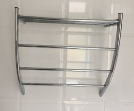 Bathroom towel Rail (Silver metal)