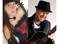 Violin and guiar players available for paid gigs / working bands