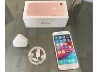 Rose Gold Apple Iphone 7 32GB On Vodafone + Warranty