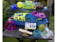 Hamster Cage - Hamster Heaven Metro - Plus Extras