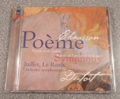 Classical CD - CHAUSSON Poeme Symphony - Juillet, Le Roux - VGC