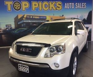 2009 GMC Acadia SLE, AWD, SECOND ROW BUCKETS, V6!