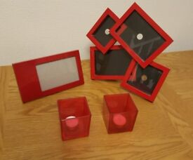 Red Gloss Picture Frames