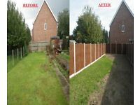 FENCING GARDEN SUPPLIED & ERECTED CONCRETE POSTS NORWICH, NORFOLK & SURROUNDING AREAS DIGGER HIRE