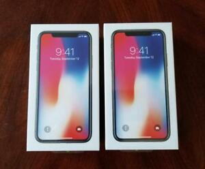 Brand New iPhone X 256GB Sealed Box Space Grey and Open Box Silver with Extras (worth $100), 1Yr. Warranty, Unlocked!!!*
