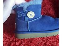 Infant Girls Purple Blue Ugg Boots Size 7/8