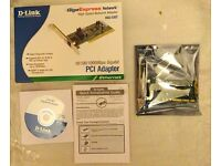 New - D-Link DGE-530T Gigabit 1000Mbps PCI Ethernet Network Card