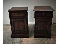 Mahogany bedside cabinets x 2 - £150