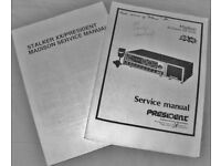 PRESIDENT MADISON X 2 SERVICE MANUALS ( JUST REDUCED )