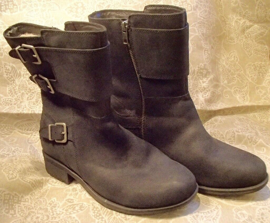 Black Ugg Biker Boots, size 40. Brand new. | in Helston, Cornwall ...