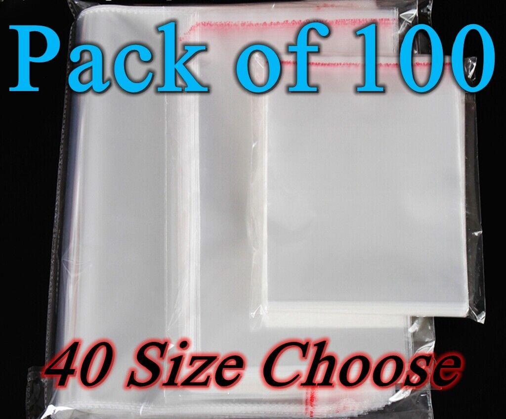 Sealable OPP Clear Poly Bag Cellophane 20cm x 27cm High Quality UK Seller