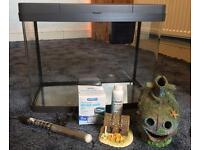 INTERPET AQUARIUM GLASS FISH TANK (40 Litre) - PLUS: Filter, Heater, Accessories, and LED Lighting!