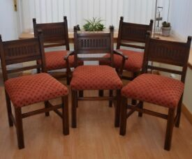 Set of Five 1930/40's dining [altar] chairs