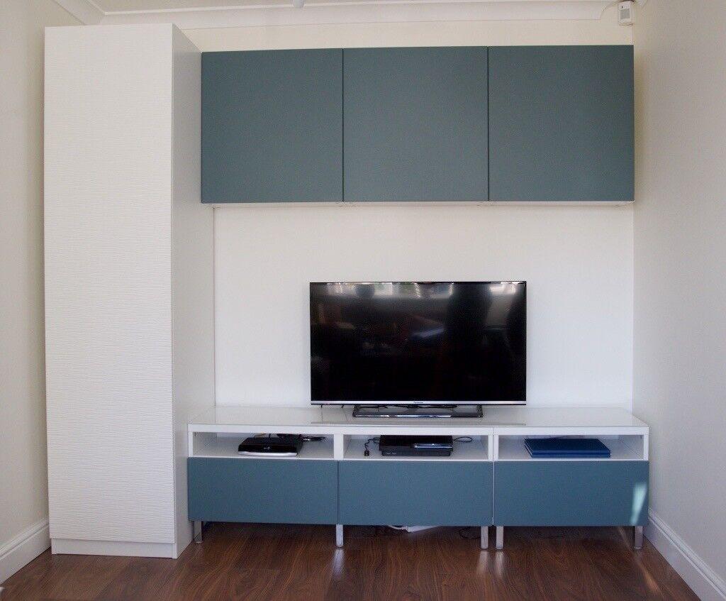 Ikea besta pax tv storage units months old cost £