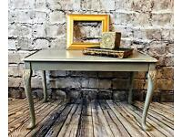 Shabby Chic Grey Coffee Table Queen Anne Style