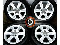 "16"" Genuine Audi alloys VW Seat Skoda, good cond, good tyres."