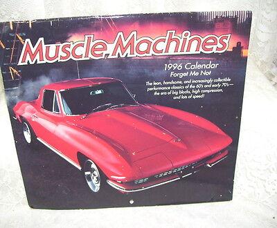 1996 AMERICAN GREETINGS CALENDAR OF MUSCLE MACHINES CARS