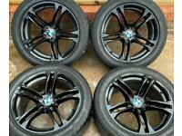 BMW 5 series M Sport 18 inch Black Alloy Wheels 5 x 120 Genuine Staggered F10 F11 LCI 613