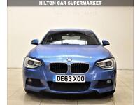 BMW 1 SERIES 2.0 125D M SPORT 3d 215 BHP + AIR CON + AUX + MP3/CD (blue) 2013