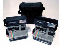 Polaroid 635 Supercolor LM Program Instant 600 Film Camera x 2