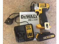 Dewalt 18V XR li-ion Impact Driver, Charger and Battery 1.5Ah. Like New. NO OFFERS