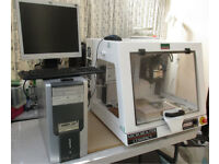 Denford CNC MicroRouter Compact + PC and all software Complete , inc tools DOM 2006, USB interface