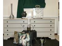Beautiful customised putty shade dresser/ drawers. Sold together/individually.Delivery.