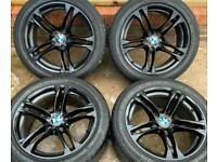 BMW 5 series M Sport 18 inch Black Alloy Wheels 5 x 120 Genuine Staggered F10 F11 LCI 613 8J 9J