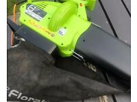 Powerful electric leaf blower garden vacuum lifts leaves debris lawnmowers trimmers mowers