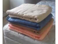 Four double/king size blankets