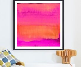Sunset Art print by Amy Sia (Large / Pink)
