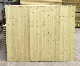 TIMBER/ WOODEN CLOSE BOARD PRESSURE TREATED GARDEN FENCE PANELS ~ STRAIGHT TOP🌳